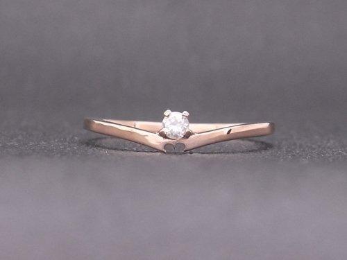 オーダーメイド K18ピンクゴールド×ダイヤモンドの婚約指輪