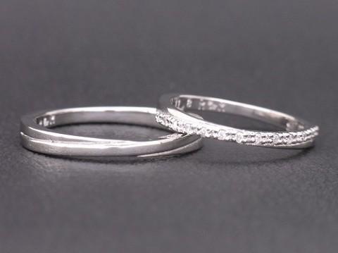 オーダーメイド 手作りのpt900(プラチナ)結婚指輪