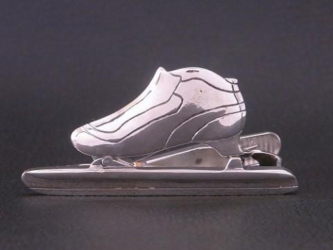 オーダーメイド! シルバー925 スラップスケートのネクタイピン!