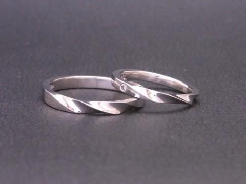 オーダーメイド!pt900プラチナ結婚指輪!年末年始の営業