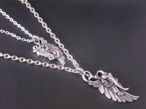 ペアで作製させて頂いたドラゴンの翼ネックレス!!