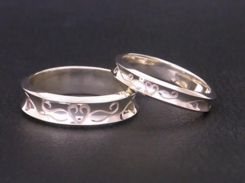 オーダーメイドの1点物! 手作り結婚指輪!!