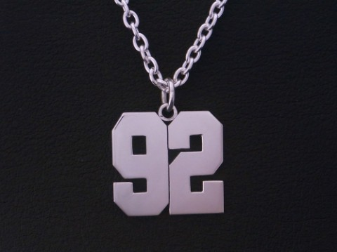 オーダーメイド! 背番号「92」ネックレス!!