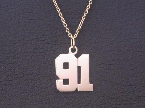 東北フリーブレイズの人里茂樹選手の91番ナンバーネックレス!