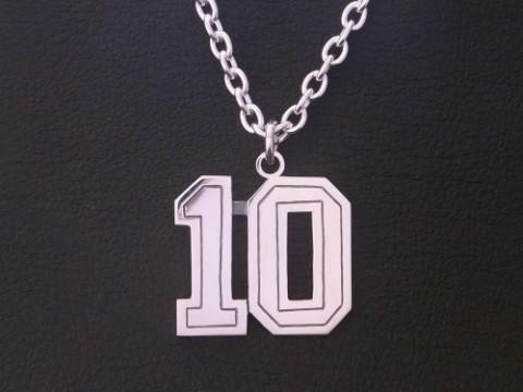 オーダーメイド! 背番号10番ネックレス!!