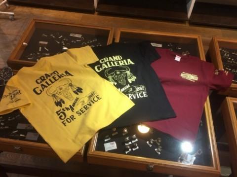 Grand Galleria開業5周年記念Tシャツ作りました~!