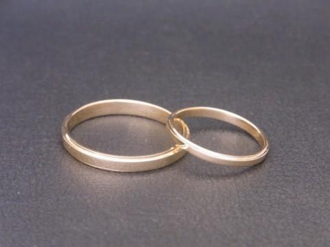 K18イエローゴールド 手作り結婚指輪!