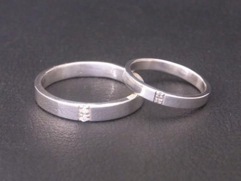 プラチナ(pt900) ×ダイヤモンド 手作り結婚指輪!