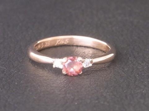 K18ピンクゴールドの婚約指輪!