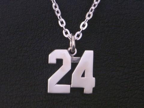 オーダーメイド シルバー925 背番号24ネックレス