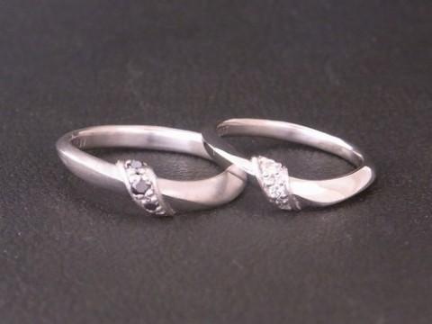オーダーメイドで作製させて頂いたプラチナ結婚指輪!