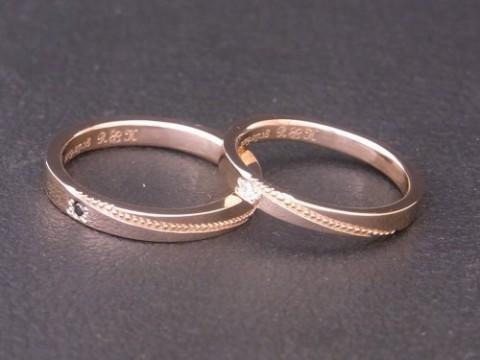 釧路より K18ピンクゴールド結婚指輪!