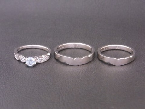 いつもご利用頂いているK様より 婚約指輪&結婚指輪3点セット!