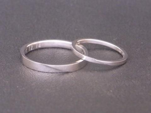T様よりお作りさせて頂いたプラチナ結婚指輪!