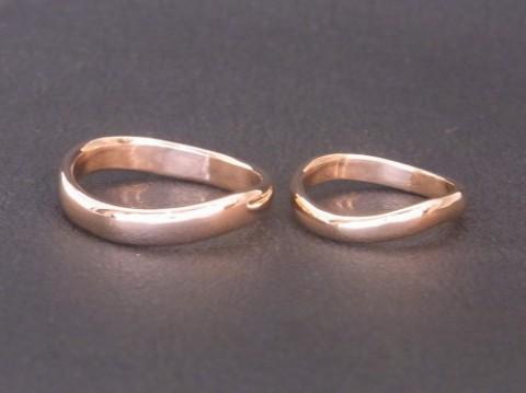 オーダーメイド! ピンクゴールド結婚指輪!