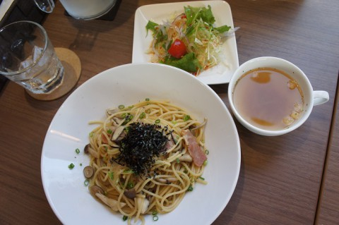 初訪! Cafe&Bar Noix(ノワ)さんの和風きのこパスタ