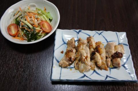 鶏モモ肉の胡麻醤油ソテー