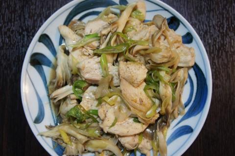 鶏ムネ肉のぽん酢炒め&南部美人