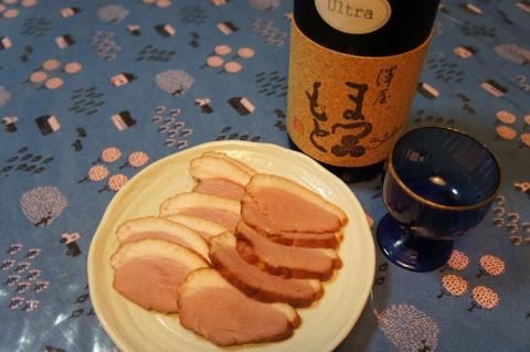 合鴨スモークを日本酒で!?