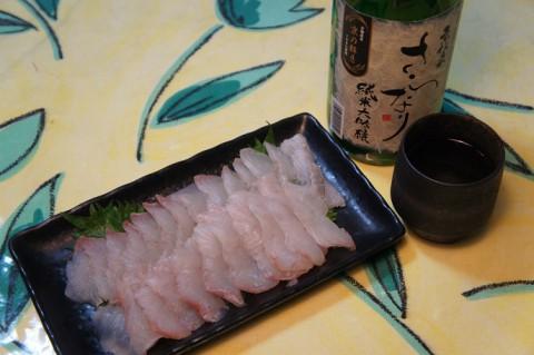 京伝来さらなり純米大吟醸&ヒラメ刺身