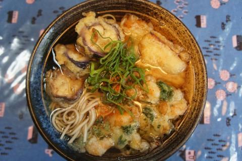 食いしん坊主庵の野菜天ぷらそば