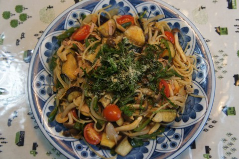 食いしん坊主亭の野菜スパゲッティ