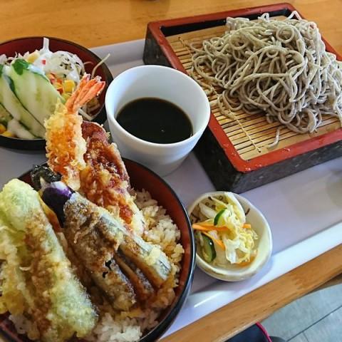 そばセット(天丼)/めしcafeピグレット