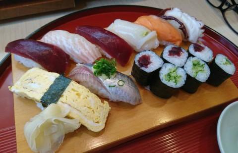 シシャモとランチ握り/江戸前鮨処 翼寿司