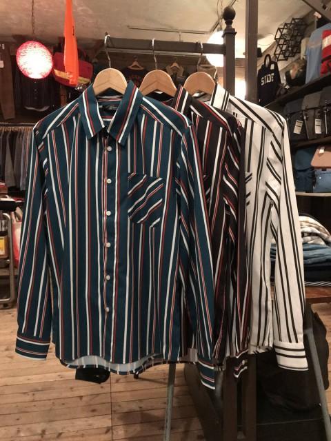 70's風 ストライプシャツ