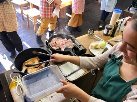 薪ストーブ料理教室しました!