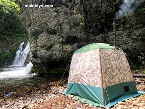 大自然の中でテントサウナを楽しんでみた