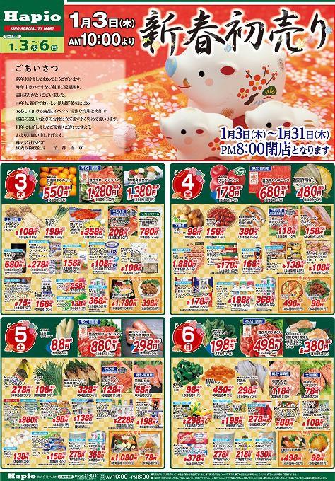 Hapio/ハピオ 新年初売り