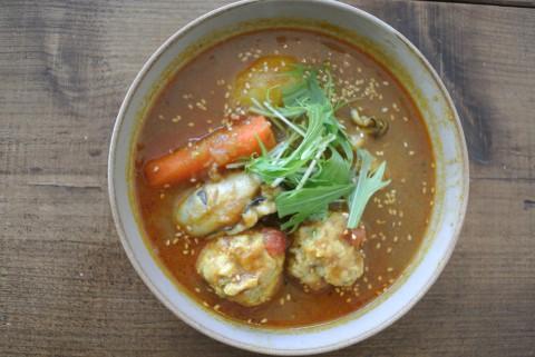 牡蠣のスープカレー