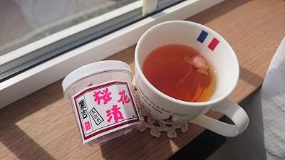 桜花入り三年番茶