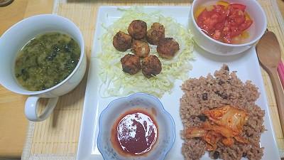 【レシピ】即席スイートチリソースとたこ焼き風レンコンボール