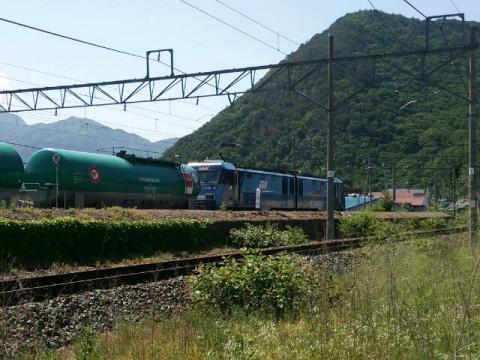 坂城の石油列車