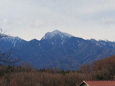 登った山をバックに列車を見るツアー、甲斐駒ヶ岳編