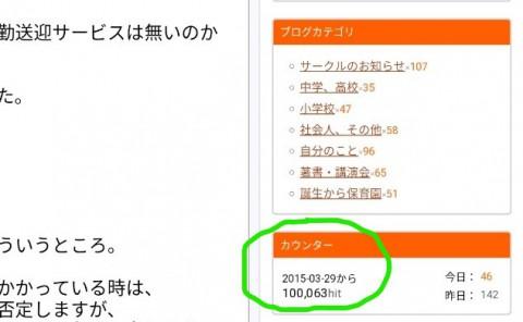 10万ヒットありがとうございます!