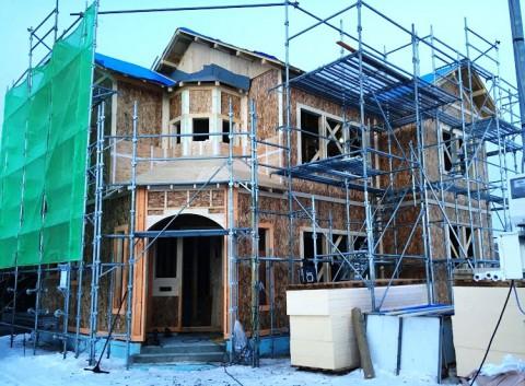 西17条南27丁目モデルハウス 工事経過2
