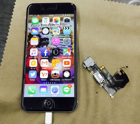 iPhone6 充電ができない!原因は・・・?