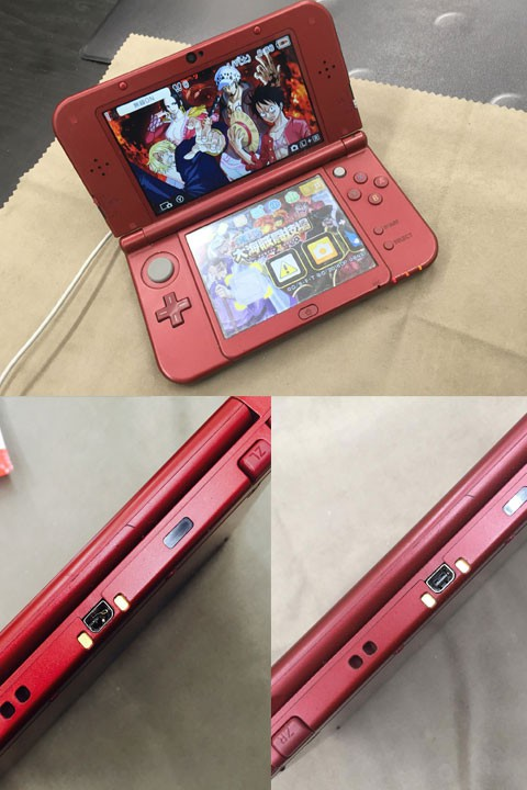 New3DS(LL)の充電コネクタの修理! 最短で即日で直ります!