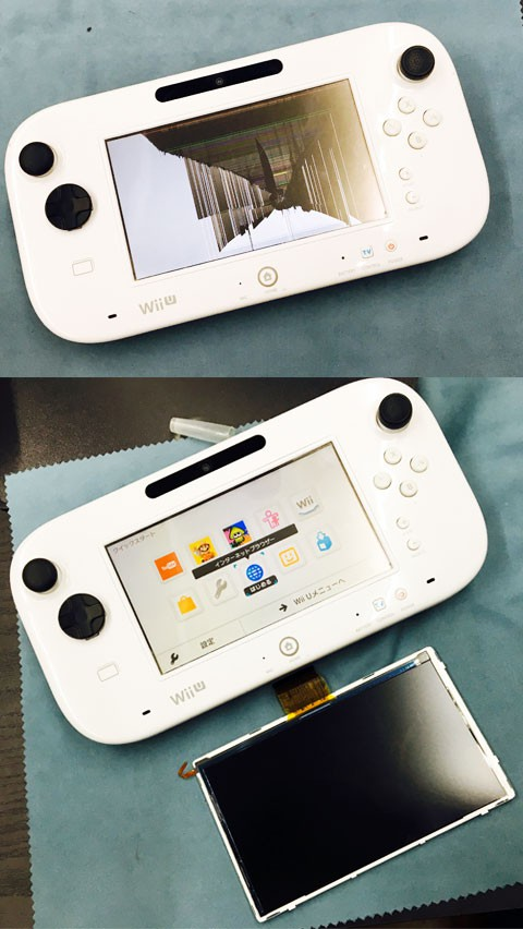 Wii U Game Pad 液晶割れの修理!