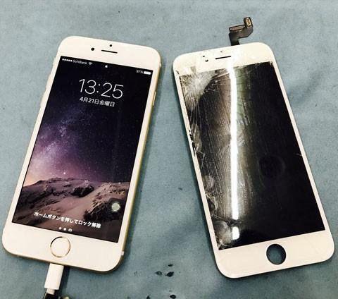 iPhoneのガラス割れ修理できます 最短10分~!