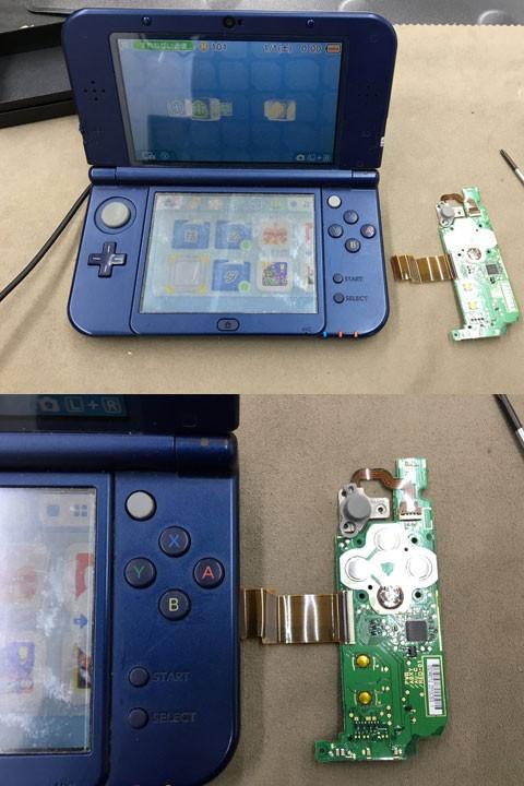 new 3DSLL ボタンが効かない?  最短修理15分