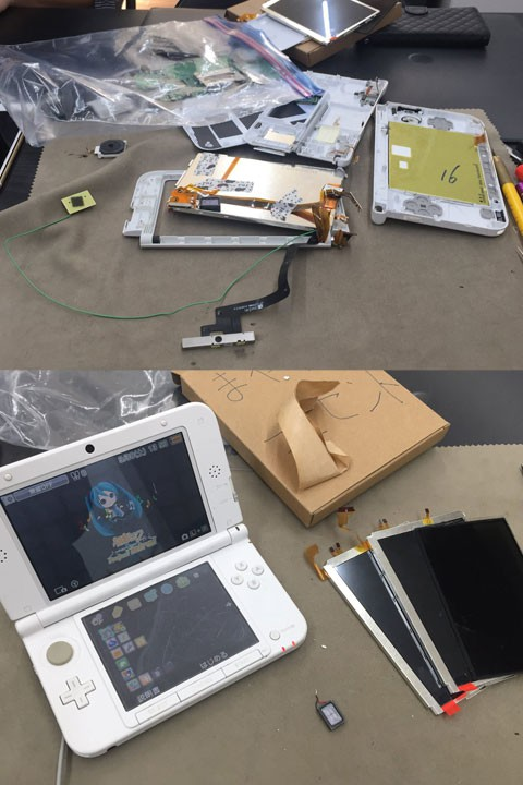 3DS自己修理失敗->当店に修理依頼