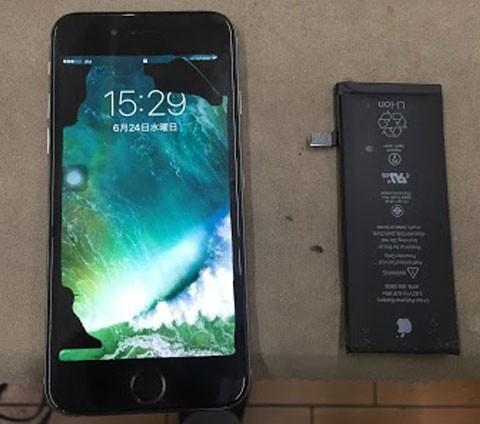 iPhoneのバッテリー交換できます!