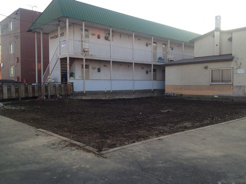 【更地になりました】帯広市西1条南23丁目1-1解体工事完了しました。