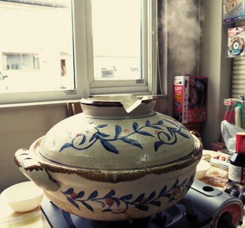 鍋の季節です‼️  ちゃんこ鍋プラス しゃぶしゃぶお肉を~(笑)