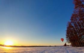 熱気球(バルーン)に乗って、十勝晴れ  大空散歩!!