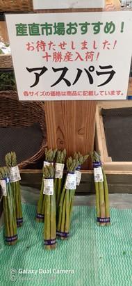 十勝産 野菜で… 健康 & 免疫力up!  アスパラ登場!!